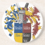 The Sinister Side of Heraldry Coaster