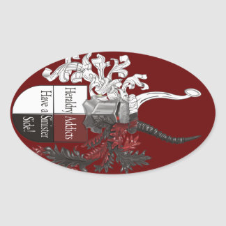 The Sinister Side of Heraldry Oval Sticker