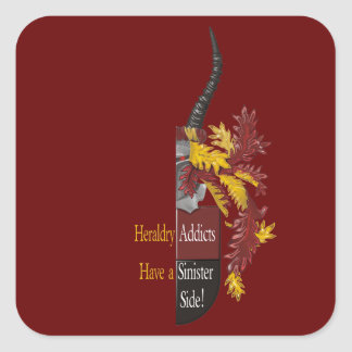 The Sinister Side of Heraldry Square Sticker