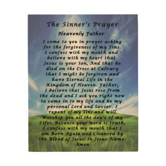 The Sinner s Prayer Wood Canvas