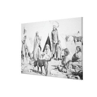 The Sioux Reservation at Pine Ridge, South Dakota, Canvas Print
