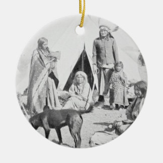 The Sioux Reservation at Pine Ridge, South Dakota, Ceramic Ornament
