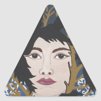 The Sister and Seven Ravens Triangle Sticker