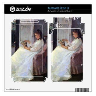 The sister of the artist at a window by Morisot Motorola Droid X Skins