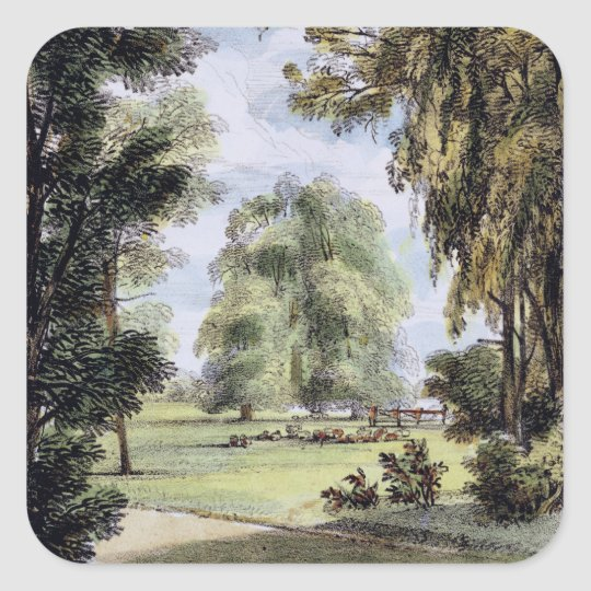 The Sister Trees, Kew Gardens, plate 8 from 'Kew G Square Sticker