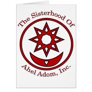 The Sisterhood of Ahel Adom New Age Wiccan Pagans Card