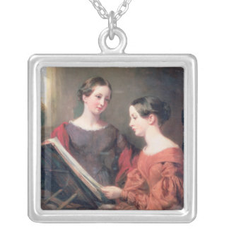 The Sisters, 1839 Silver Plated Necklace
