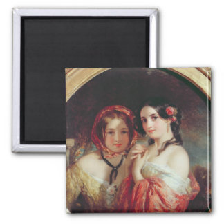 The Sisters 2 Inch Square Magnet