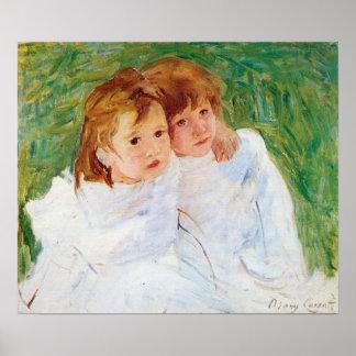 The sisters by Mary Stevenson Cassatt Poster