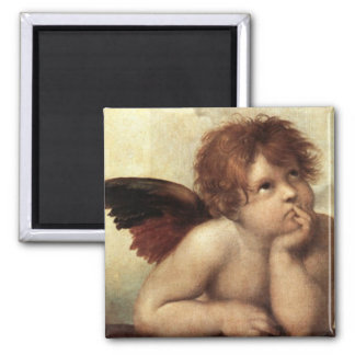The Sistine Madonna (2nd detail) Magnet