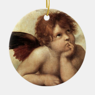 The Sistine Madonna 2nd detail Christmas Tree Ornaments