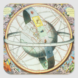 The Situation of the Earth in the Heavens Square Sticker