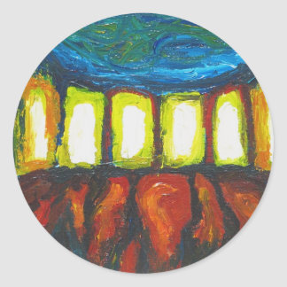 The Six Doors (spiritual expressionism ) Classic Round Sticker
