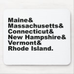 The Six Northeast States That Make Up New England Mouse Pad