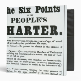 The Six Points of the People's Charter 3 Ring Binder