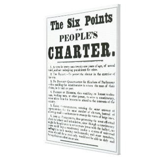 The Six Points of the People's Charter Canvas Print