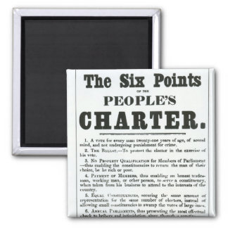 The Six Points of the People's Charter Refrigerator Magnets