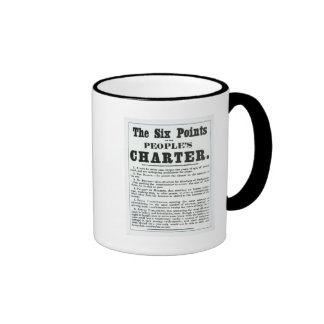 The Six Points of the People's Charter Coffee Mugs
