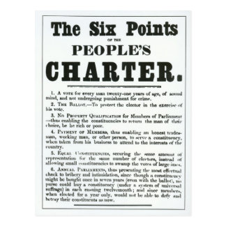 The Six Points of the People's Charter Postcard