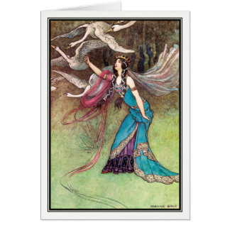 The Six Swans by Warwick Goble Card