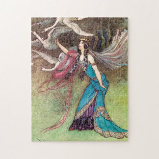 The Six Swans by Warwick Goble Jigsaw Puzzle
