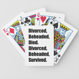The Six Wives of Henry VIII Bicycle Playing Cards