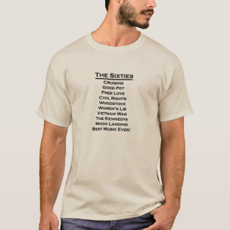 The Sixties T-Shirt for Baby Boomer Men