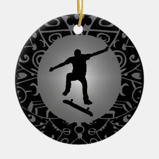 The skate way ceramic ornament zazzle - Ornament tapete weiay ...