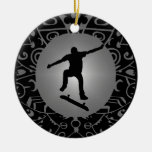 THE SKATE WAY Double-Sided CERAMIC ROUND CHRISTMAS ORNAMENT