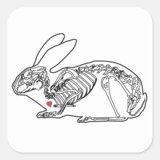 The Skeleton Crew Square Sticker