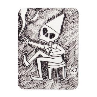 'The Skeleton Dunce' Magnet by Kenneth Joyner