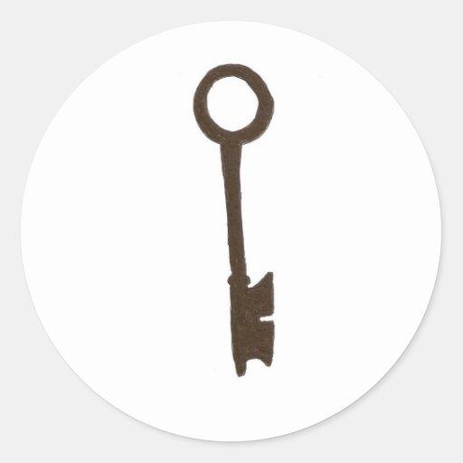 The Skeleton key Round Stickers