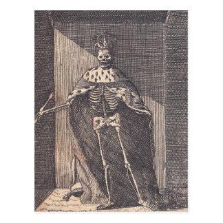 """The """"Skeleton King"""" circa 1792 Postcard"""