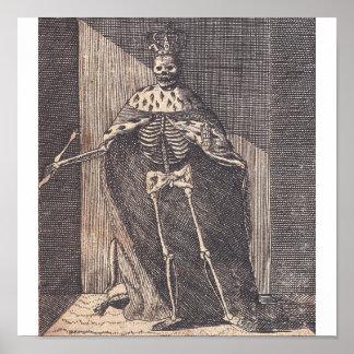 "The ""Skeleton King"" circa 1792 Poster"