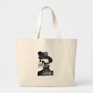 The Skeleton Lady. Circa early 1900s Mexico Large Tote Bag