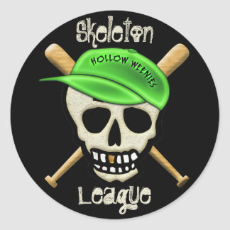 The Skeleton League - Hollow Weenies Classic Round Sticker