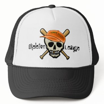 Halloween Themed The Skeleton League - Punkin Innies Trucker Hat