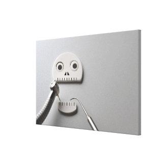 The skeleton which dental treatment is taken canvas print