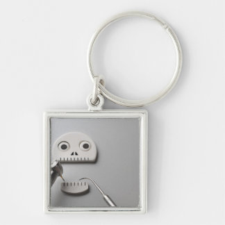 The skeleton which dental treatment is taken keychain