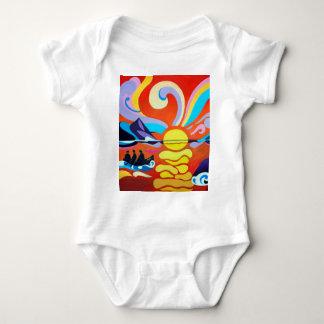 The Skellig Island Range Baby Body Suit Baby Bodysuit