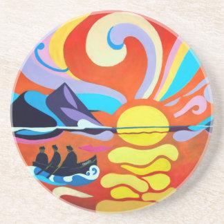 The Skellig Island Range Sandstone Coaster
