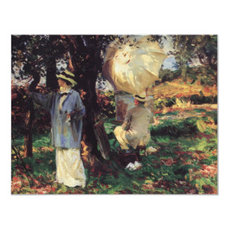 The Sketchers by Sargent, Vintage Victorian Art Card