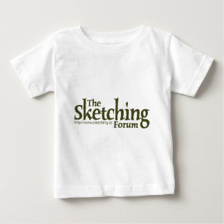 The Sketching Forum Logo with URL Baby T-Shirt