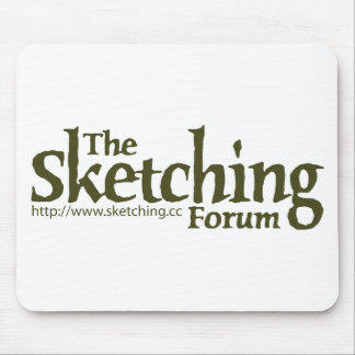 The Sketching Forum Logo with URL Mouse Pad