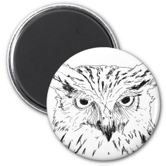 The Sketchy Owl Magnet