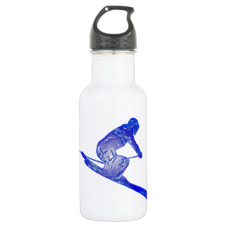 THE SKI EDGES STAINLESS STEEL WATER BOTTLE