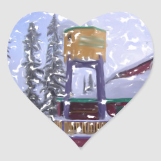 The Ski Lodge4 Heart Sticker