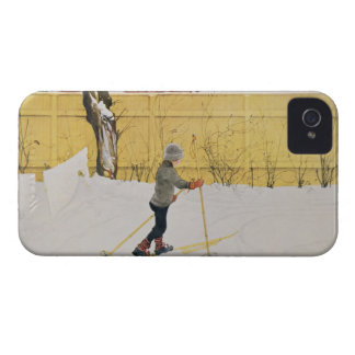The Skier c 1909 iPhone 4 Cover