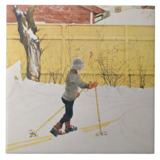 The Skier, c.1909 Ceramic Tile
