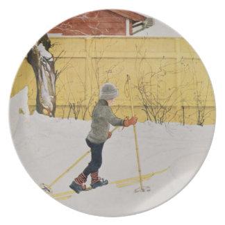The Skier, c.1909 Melamine Plate